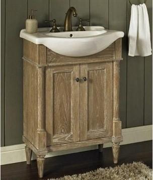Fairmont designs rustic chic 26 vanity sink set weathered oak rustic bathroom vanities Fairmont designs bathroom vanity cottage