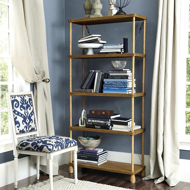 ballard designs pascal rope bookcase contemporary tuscan left bookcase ballard designs