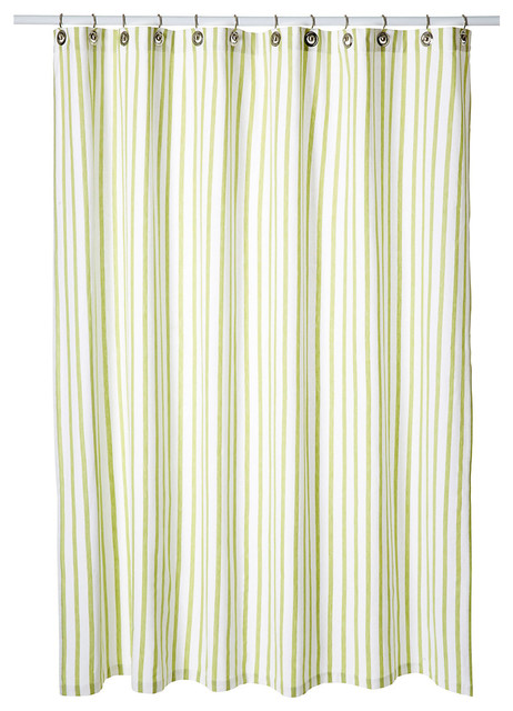Horizontal Stripe Shower Curtain Black and White Stripe Shower