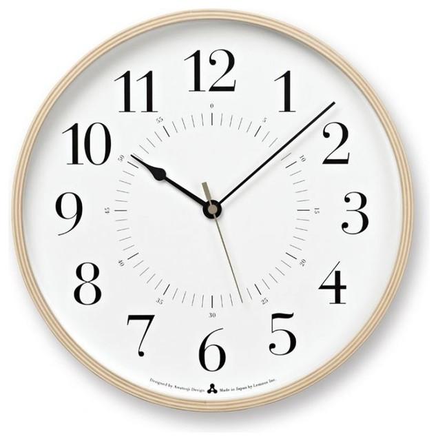 Awa Toki Clock White Contemporary Wall Clocks East