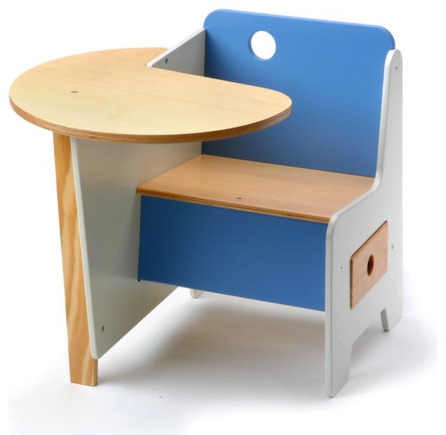 Mini Drawer Doodle Desk Blue Moderne Bureau Et