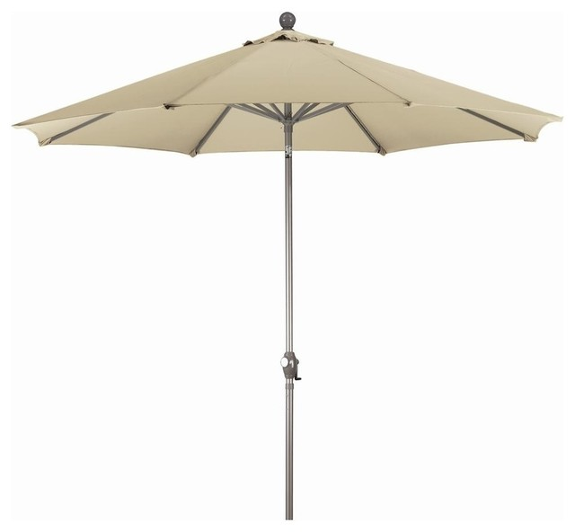 9 Ft Market Patio Umbrella In Beige Contemporary