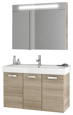 40 Inch Larch Canapa Bathroom Vanity Set Contemporary