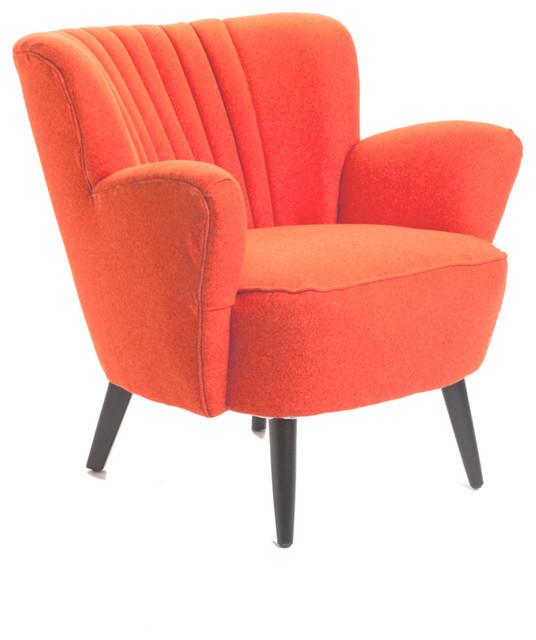 Moe 39 S Home Moro Club Chair In Orange Contemporary