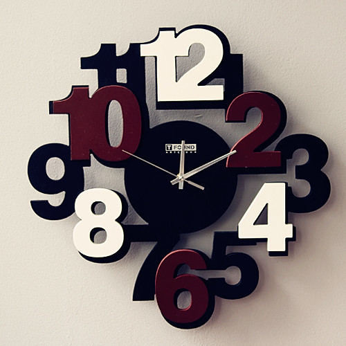 Modern Wall Clock Featured With Brown Numbers Contemporary Wall Clocks