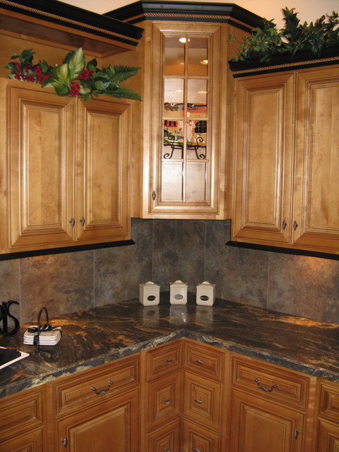 Mocha Kitchen Cabinets Home design - Traditional - Columbus - by Lily Ann Cabinets