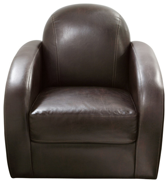 Stetson low profile swivel chair in mocca modern armchairs for Modern swivel accent chair