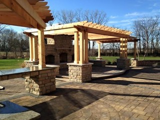 Columbus, Ohio Outdoor Oasis - Patio - by Cambridge Pavingstones with