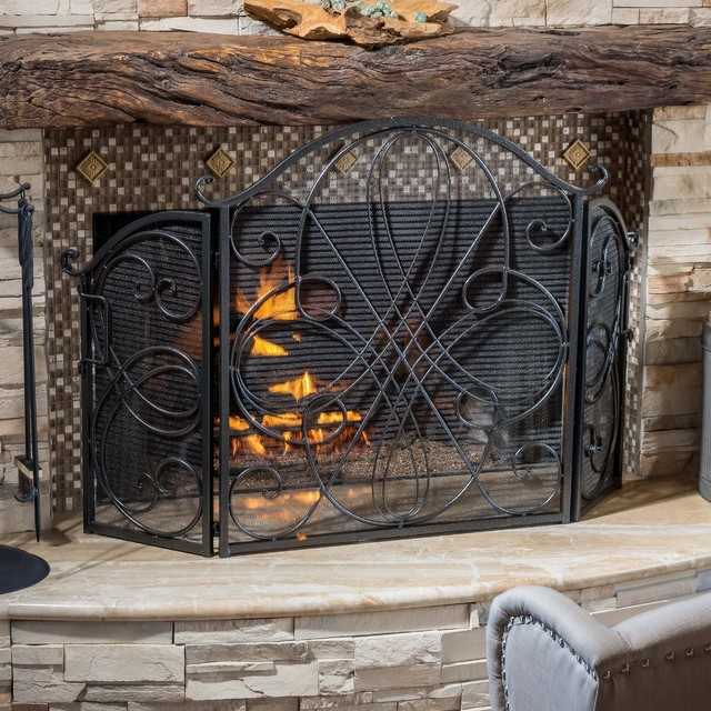 Christopher Knight Home Kingsport Fireplace Screen Victorian Fireplace Screens By