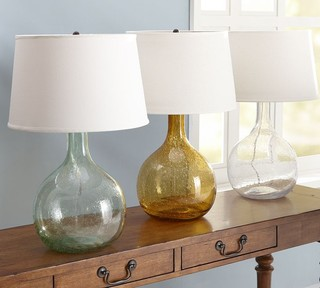 Eva Colored Glass Table Lamp Contemporary Table Lamps