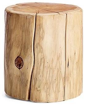 natural tree stump side table rustic side tables end tables by west elm. Black Bedroom Furniture Sets. Home Design Ideas