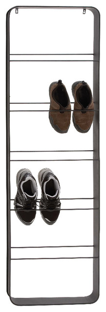 The Ingenious Metal Wall Shoe Rack - Contemporary - Shoe ...