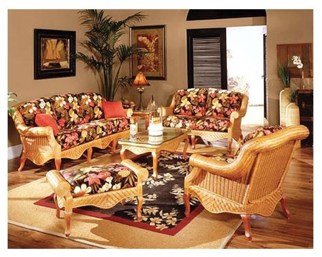 6 pc woven rattan living room set in cinnamon soho robin for 6 piece living room set