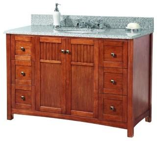 Original Bathroom Knoxville 49 In W X 22 In D Vanity In Nutmeg With Vanity