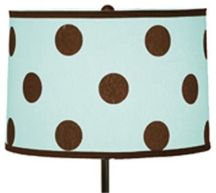 Polka Dot Lampshade Blue With Brown Polka Dots