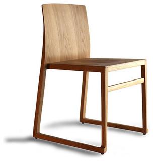 hanna sled chair by antonio basile for osidea modern dining chairs