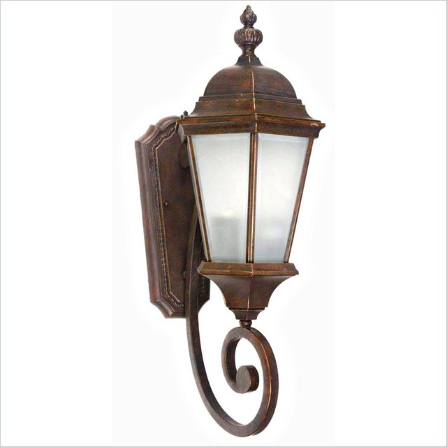 Decorative Exterior Wall Sconces : Yosemite Home Decor Brielle 2 Lights Exterior Lights Wall Mount in Brown - Traditional - Outdoor ...