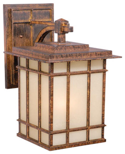 Vaxcel MH OWD110AW Manor House 10 Outdoor Wall Light Aged Walnut Tran