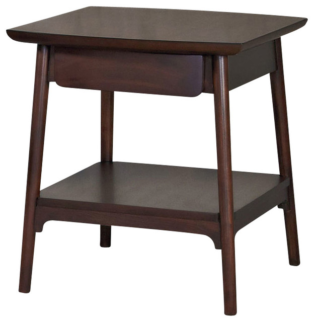 Hammary Mila Rectangular Drawer End Table In Burnished
