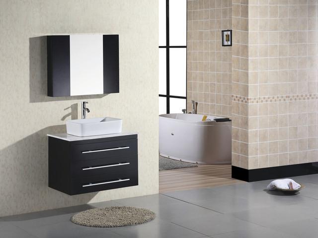 30 portland vessel sink vanity espresso dec071d modern bathroom