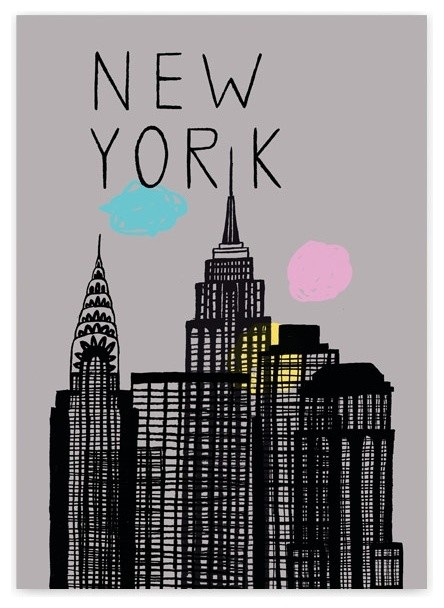 human empire artist series new york poster contemporary prints and posters by human empire. Black Bedroom Furniture Sets. Home Design Ideas