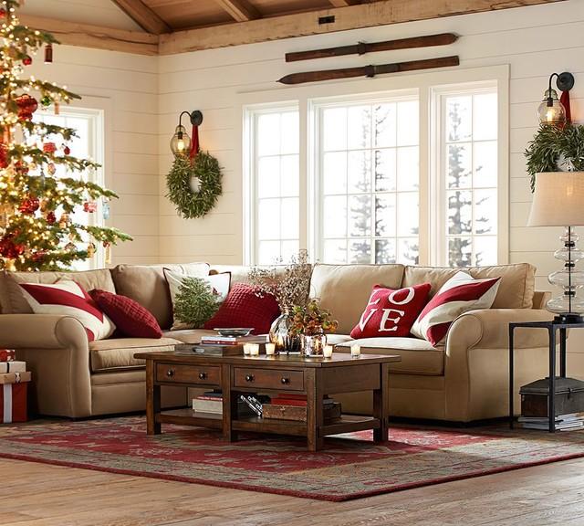 charming pottery barn style living room decor ideas   ARLINGTON PERSIAN-STYLE RUG - Contemporary - Area Rugs ...