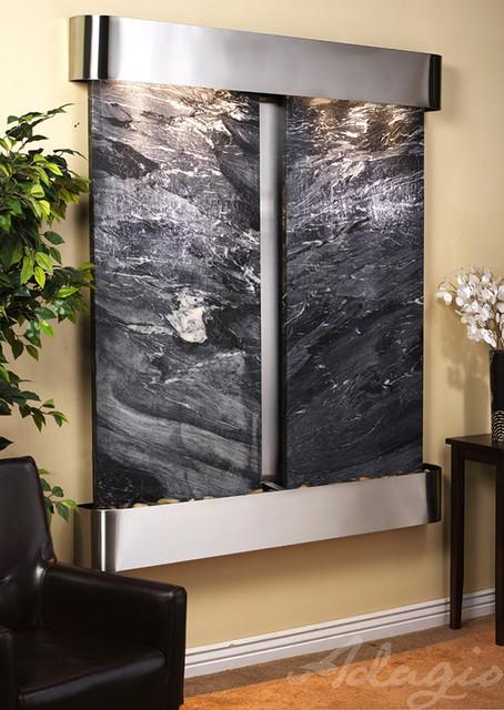 The cottonwood falls wall water feature contemporaneo for Fontane per interni