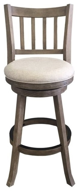 Boraam Sheldon 29 Quot Bar Stool In Driftwood Gray Wire Brush