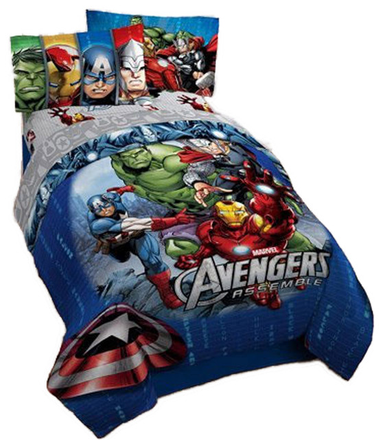 Marvel Comics Avengers Bedding Superhero Halo Bed Set ...