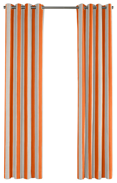 orange and gray curtains - photo #48