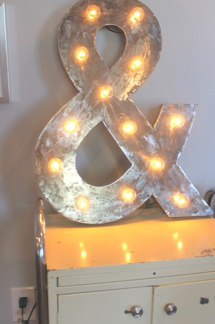 Ampersand sign eclectic artwork by metal heads for Ampersand decor