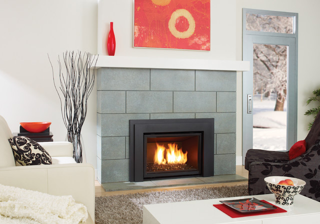 Regency horizon hzi540e modern gas fireplace insert modern indoor fireplaces by regency - Contemporary electric fireplace insert accessories ...