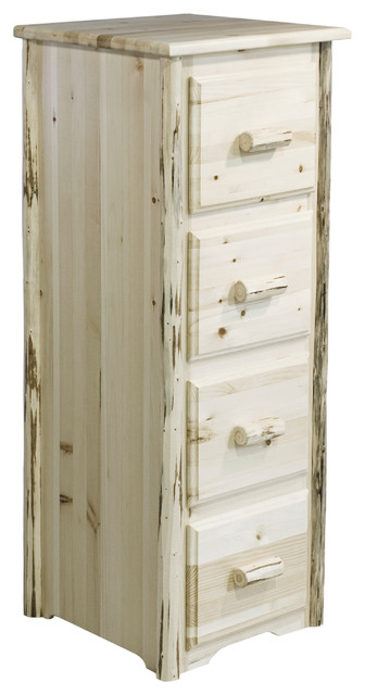 Montana Collection 4-Drawer File Cabinet, Clear Lacquer Finish - Filing Cabinets - by Montana ...