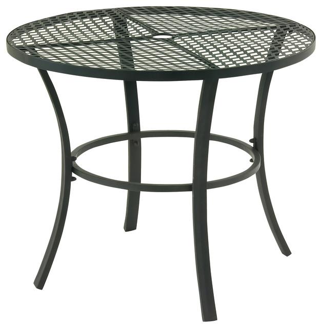 Good looking metal round outdoor table outdoor dining for Looking for round dining table