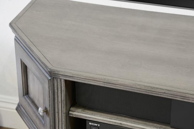 Rustic Designer Wall Mountable Media Center - Vintage - Driftwood Gray - Rustic - Media Cabinets ...
