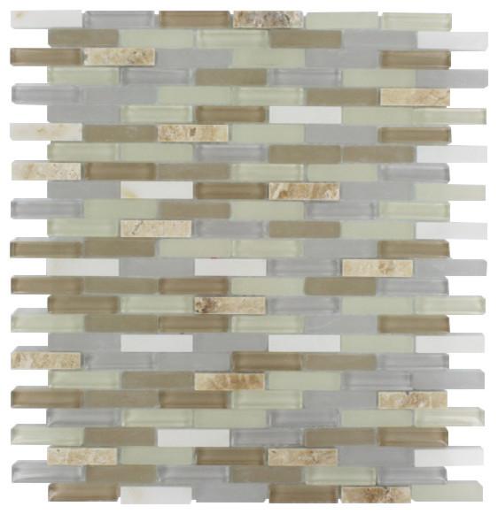Nexus shabby chic mini brick sheet contemporary tile for Shabby chic wall tiles