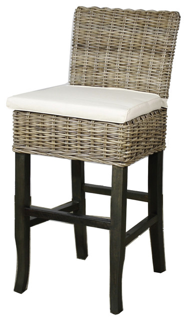 Bermuda Bar Stool Kubu Gray Beach Style Bar Stools