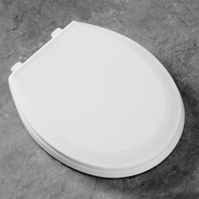 Bemis 100EC Round White Plastic Toilet Seat B100EC000
