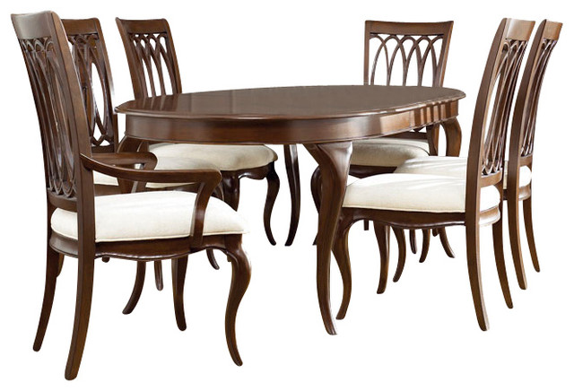 american drew cherry grove ng 9 piece dining room set in