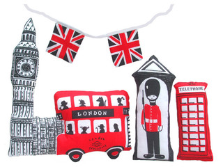 Make a Little London Sewing Kit and Tea Towel - Contemporary - Dish Towels - by Folksy