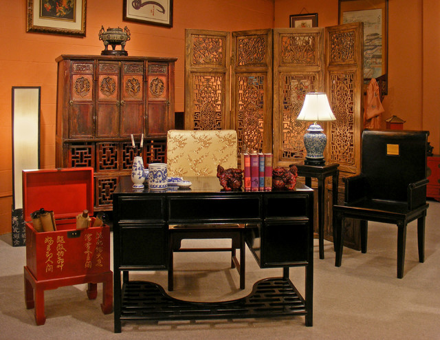 ... antique kitchen cabinet, there is an eclectic representation of Asian