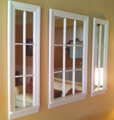 9 lite white mirror windows contemporary artwork for Mirror that look