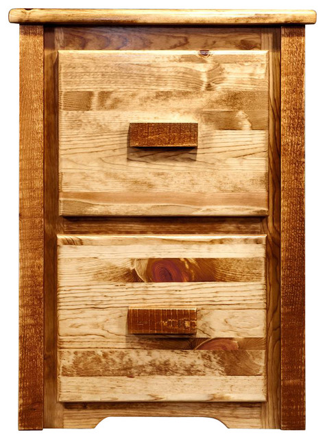 31 in. Handcrafted File Cabinet - Rustic - Filing Cabinets - by ShopLadder