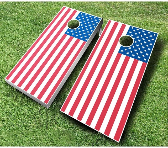 American Flag Tournament Cornhole Set - 701 - Contemporary - Outdoor And Lawn Games - by Hayneedle