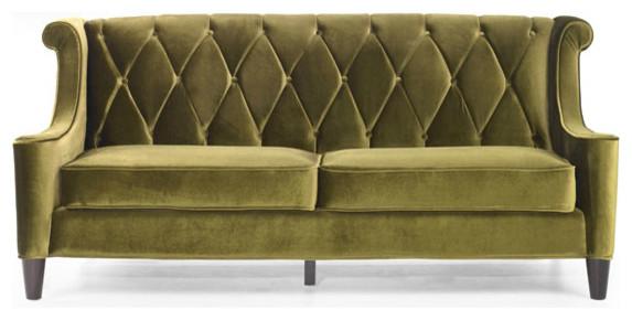 Modern green velvet sofa victorian sofas by for Modern victorian sofa