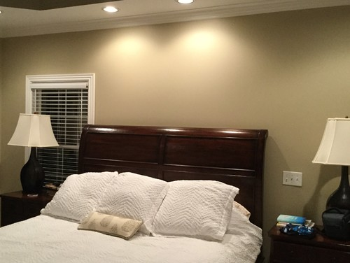 Window Treatment Above Bed Decor