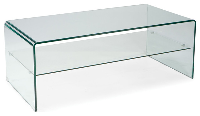 Moe 39 S Home Sono Rectangular Glass Coffee Table Contemporary Coffee Tables By Beyond Stores