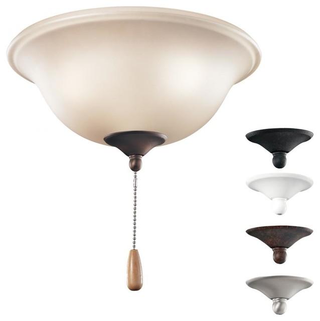 Three Light Multiple Fan Kit Traditional Ceiling