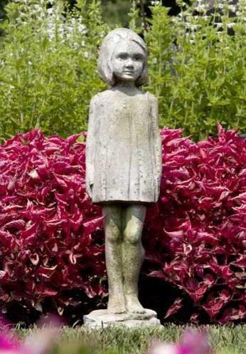Little Girl Outdoor Garden Statue Traditional Garden