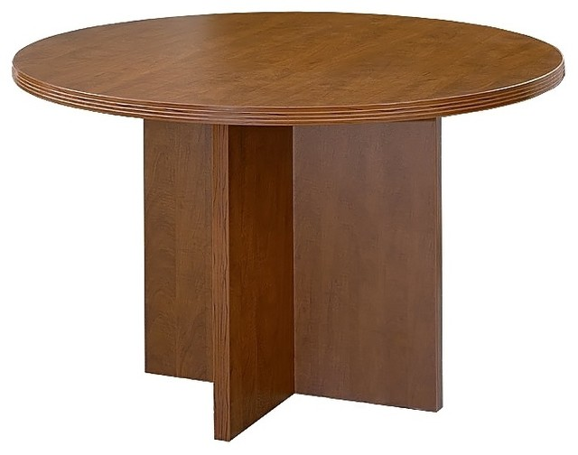 Round Wood Table Top W X Shaped Pedestal Base Contemporary Coffee Tables By Shopladder